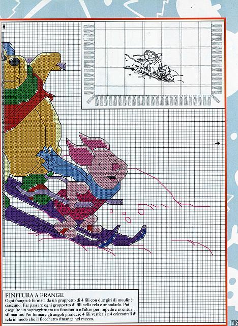 Winnie the pooh e pimpi da ricamare su copertina 2 for Punto croce disney winnie the pooh