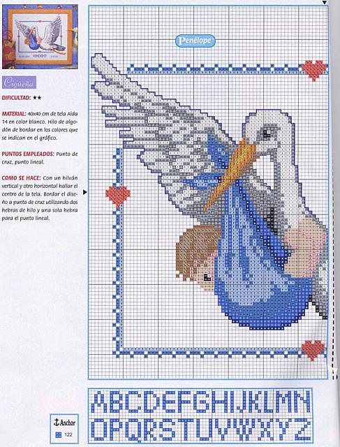 Схема вышивки с крестом с ребенком