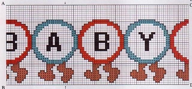 Lenzuolino punto croce bruco e funghi 3 for Schemi lenzuolini punto croce