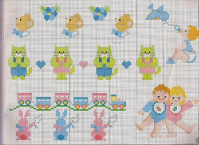Orsetti gatti verdi e trenini piccoli schemi beb bimbi for Orsetti a punto croce schemi