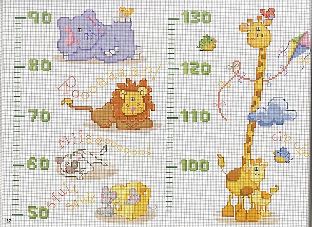 Animali metro punto croce uncinetto for Animali a punto croce per bambini