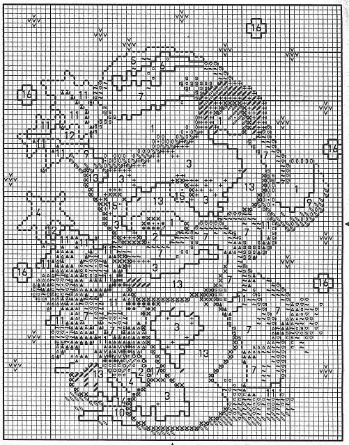Quadretto punto croce schema con orsetto di natale 3 for Schema punto croce orsetto