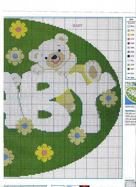 Orsetti fiorellini prato 2 punto croce for Orsetti a punto croce schemi
