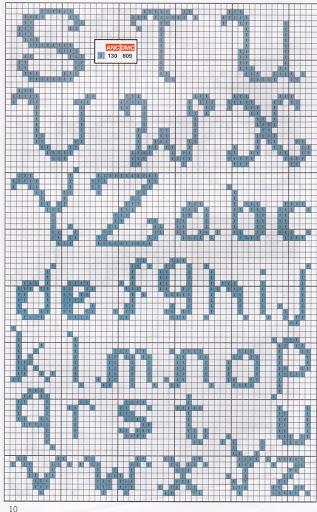 Orsetto nella culla con alfabeto punto croce 2 for Alfabeto bambini punto croce