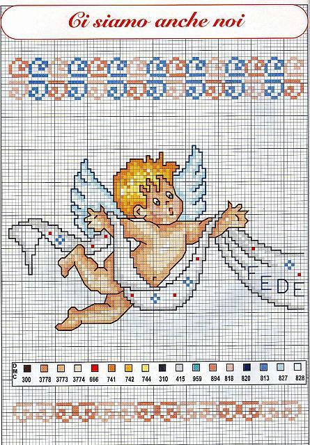 E 39 nato federico schema punto croce con angeli 1 for Schemi di garage gratuiti