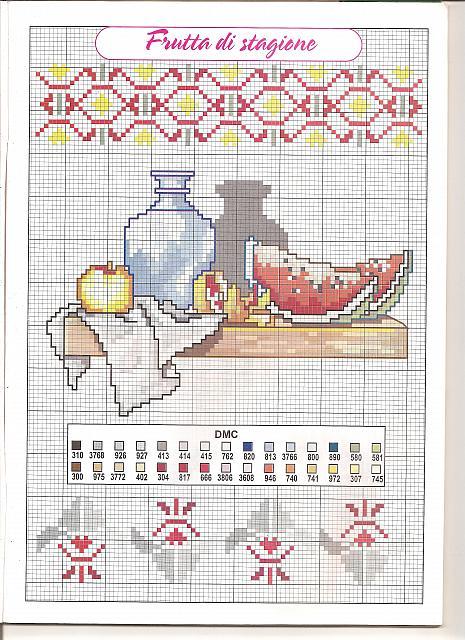 Cucina mensolina 1 punto croce for Registro casa schemi