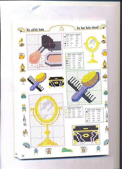 Piccoli accessori bagno punto croce 1 - Schemi punto croce bagno ...