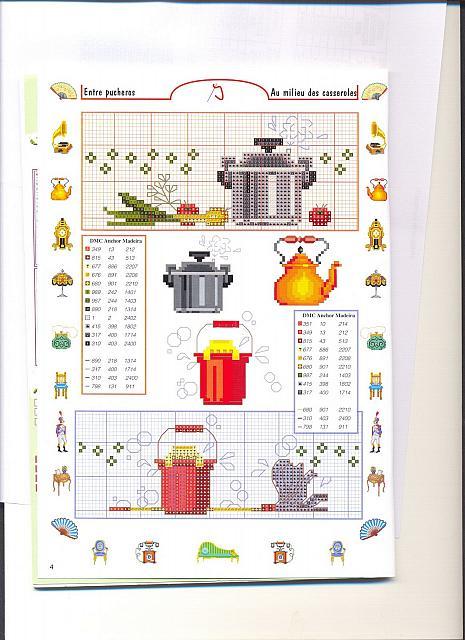Piccoli accessori piatti e pentole punto croce 9 for Registro casa schemi