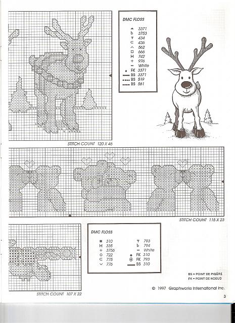 Bordi punto croce con renne orsetti mucche biberon 2 for Orsetti a punto croce schemi