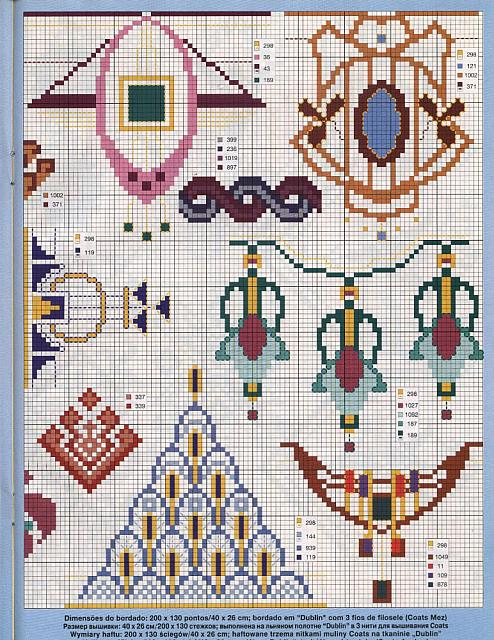 Bordi floreali 2 punto croce uncinetto for Bordi punto croce