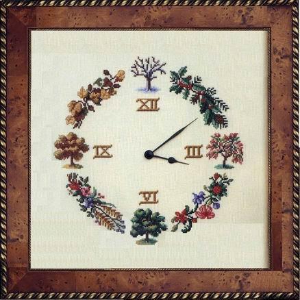 Orologio 4 stagioni 1 punto croce for Orologio punto croce schemi gratis