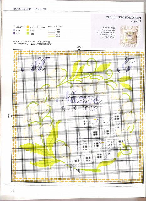 Cuscino portafedi colombe colombe punto croce uncinetto schemi gratis hobby - Cuscino portafedi punto croce ...