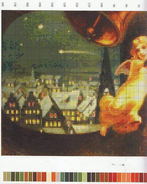 Angioletti che suonano le campane natalizie (3) - magiedifilo.it punto croce uncinetto schemi ...