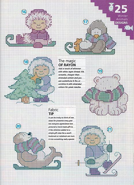 Piccoli schemi natalizi con animali 4 - Schemi animali stampabili ...