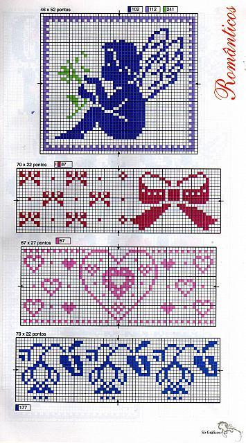 Angioletti monocolore 1 punto croce for Angioletti punto croce per bambini