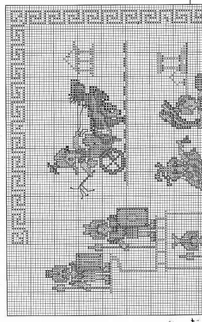 Sampler per bimbi gli antichi romani 2 for Schemi punto croce bagnetto bimbi