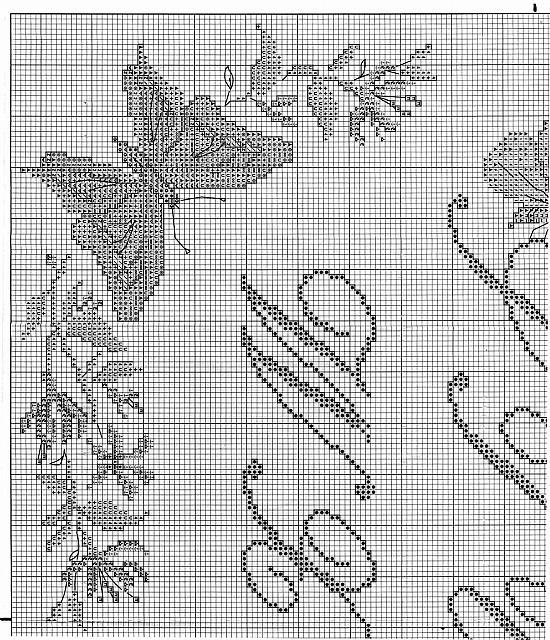 Sampler punto croce con lettere corsive e farfalle 2 for Schemi punto croce farfalle