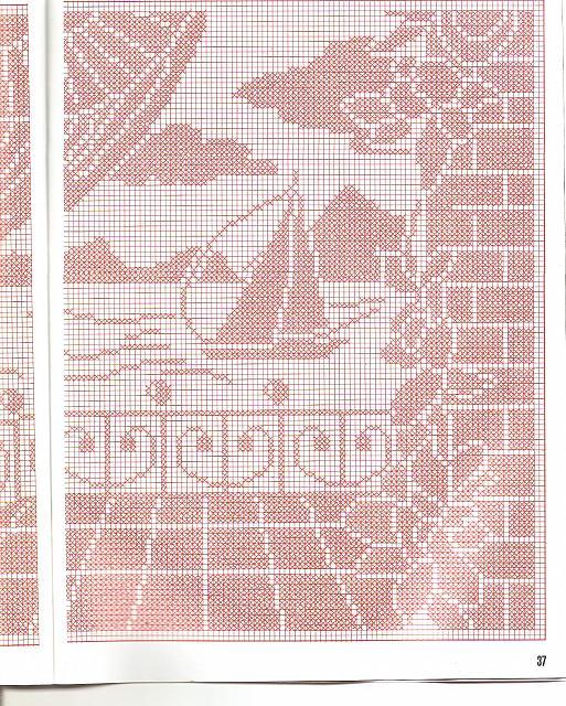 Tenda con panorama sul mare 3 punto for Lavori a filet schemi gratis
