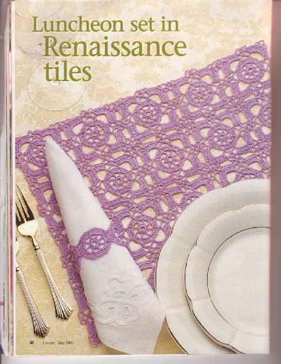 Tovaglietta prima colazione uncinetto 1 for Set de table bordeaux