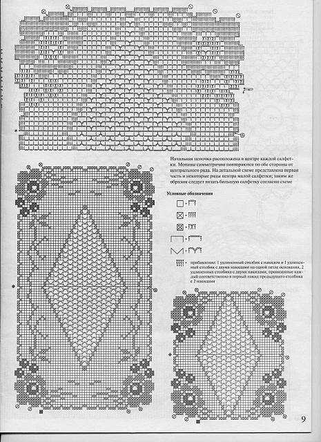 Trittico filet fiorellini 2 punto croce for Lavori a filet schemi gratis
