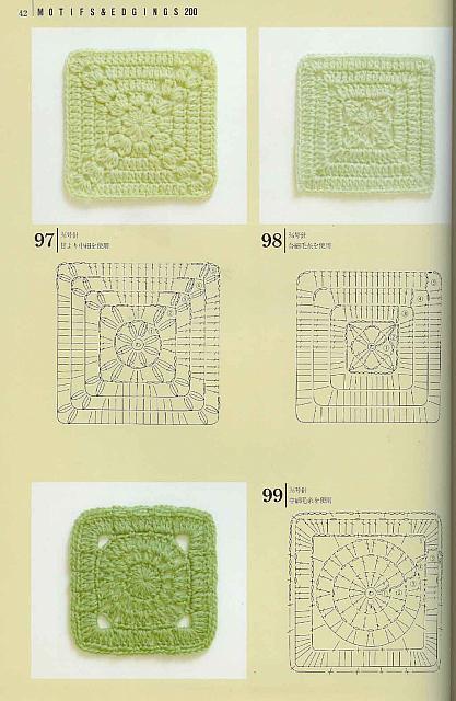 Piastrelle uncinetto 28 punto croce uncinetto schemi gratis hobby creativi - Schemi piastrelle uncinetto ...