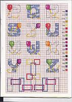 Alfabeto bimbi punto croce con i palloncini colorati (2)