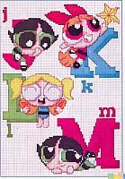Alfabeto punto croce con le Superchicche (3)