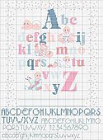Alfabeto punto croce uncinetto schemi for Schemi punto croce alfabeto bambini