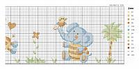 Animali per bambini punto croce uncinetto for Giraffa punto croce