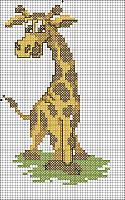 Схема вышивки с жирафами