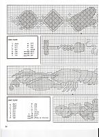 Bordi punto croce con aragoste e omini di pan di zenzero (1)