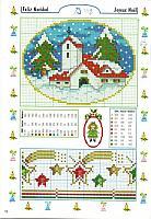 Paesaggio Natale schema punto croce