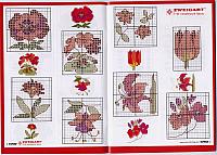 Маленькие вышивки схемы цветов 84