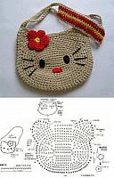 borsetta hello kitty uncinetto