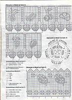 Bordi filet punto croce uncinetto schemi for Schemi bordure uncinetto filet