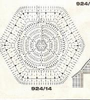 Coperte copriletti uncinetto punto croce - Piastrelle esagonali uncinetto ...