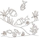 Disegni da colorare categoria pesci for Fondali marini da colorare