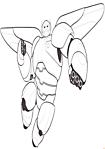 Baymax con l'armatura disegni da colorare nella categoria cartoni animati