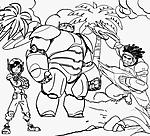 Hiro Baymax e Wasabi disegno da colorare Big Hero 6