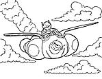 Hiro e Baymax volano disegni da colorare per bambini Big Hero 6