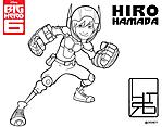 Hiro Hamada all'attacco disegni da colorare Big Hero 6