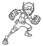 Hiro Hamada personaggio di Big Hero 6 da colorare