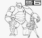 Honey Lemon Hiro e Baymax disegni da colorare gratis