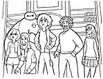 I personaggi del film cartone animato Disney Big Hero 6 da colorare