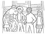 I protagonisti del film cartone animato Big Hero 6 da colorare