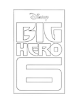 Logo del film Big Hero 6 da colorare per bambini