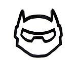 Maschera di Baymax con armatura per bambini da colorare