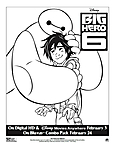 Stampa e colora Big Hero 6