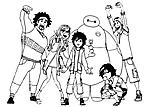 Tutti i personaggi di Big Hero 6 da colorare