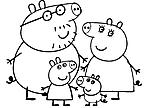 disegni da colorare la famiglia di peppa pig